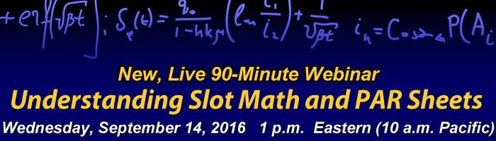 Webinar: Understanding Slot Math and PAR Sheets